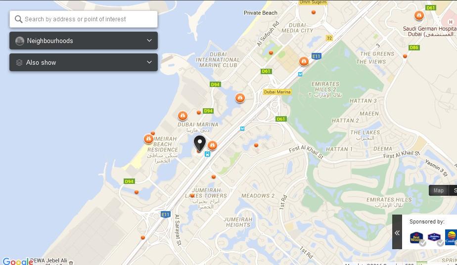 Uae Dubai Metro City Streets Hotels Airport Travel Map Info Dubai Marina Mall Dubai Map Dubai