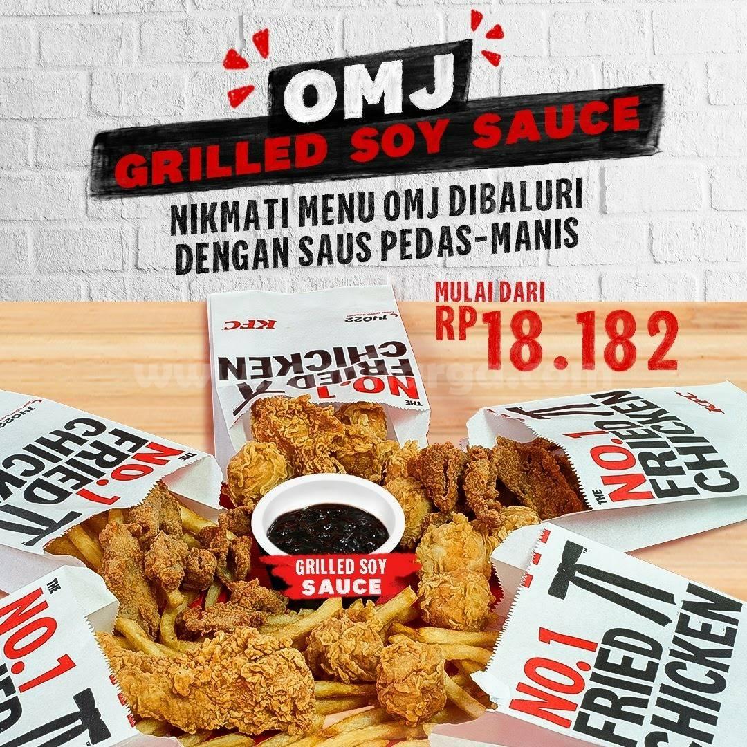 KFC Promo OMJ Grilled Soy Sauce harga mulai Rp 18.182