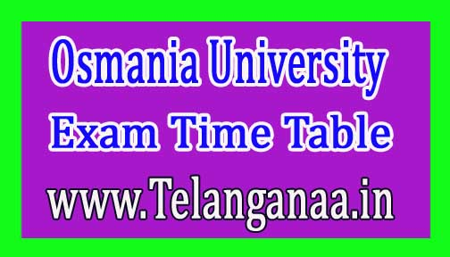 Osmania University OU M.Ed 1st Sem Regular Exam Time Table 2018