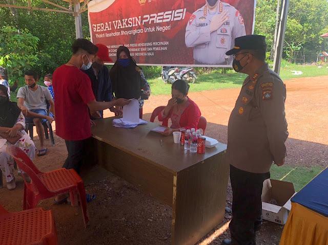 Polsek Galang Gelar vaksin Merdeka Lancang Kuning Polresta Barelang