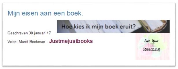 Mijn eisen aan een boek.