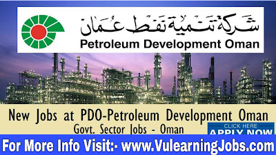 Petroleum Development Oman Career & Jobs 2019 in Oman