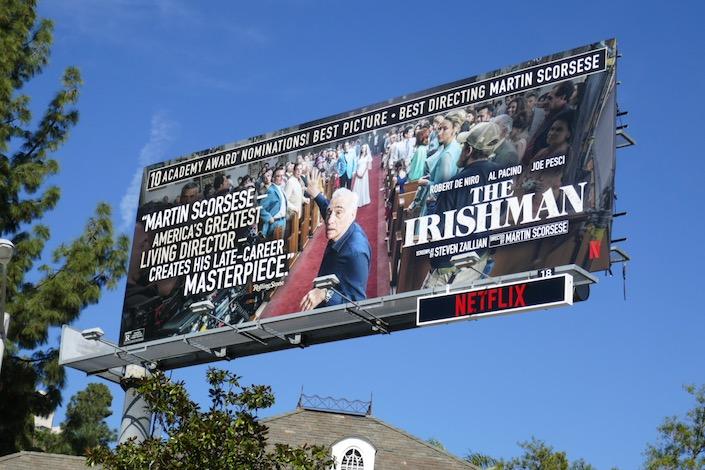 Martin Scorsese Irishman Oscar billboard
