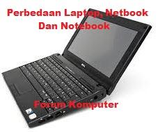 Perbedaan Mendasar Laptop, Notebook dan Netbook
