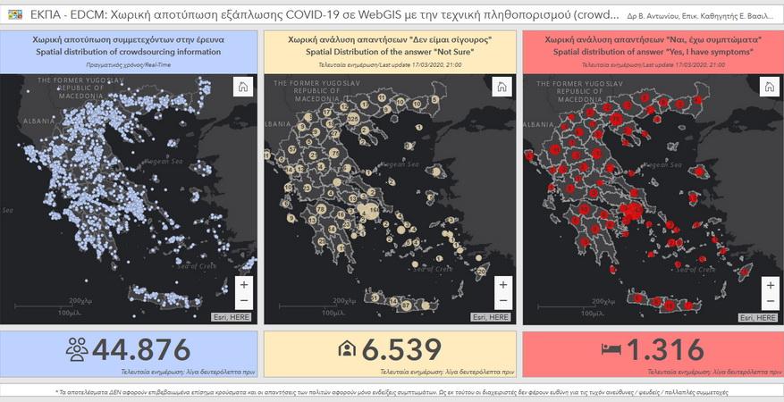 ΕΚΠΑ: Εφαρμογή για την καταγραφή εξάπλωσης του κορωνοϊού COVID-19