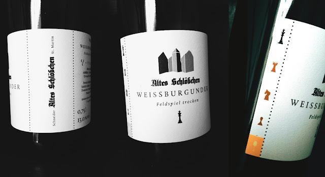 Weissburgunder Feldspiel vom Weingut Altes Schlösschen in der Pfalz