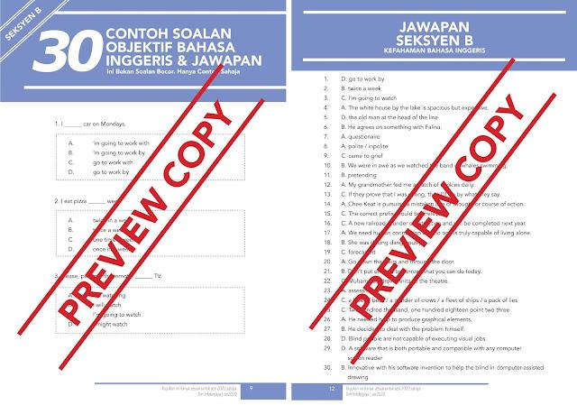 Soalan Rujukan Exam Online Penolong Pegawai Siasatan (SPRM) P29 Tahun 2020