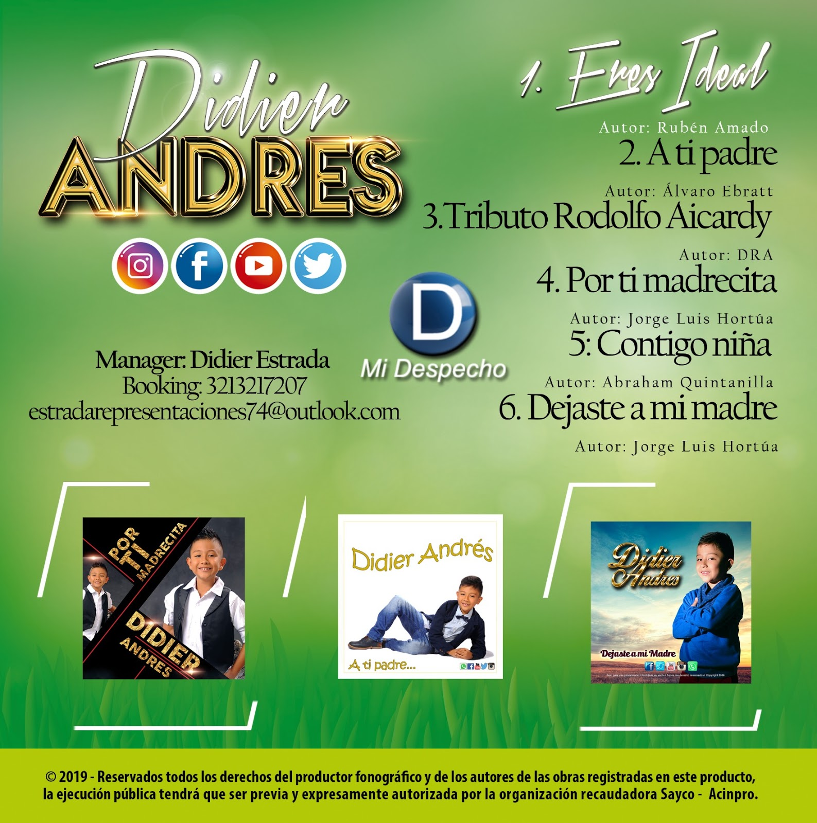 Didier Andres Eres Ideal Trasera