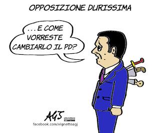 pd, renzi, opposizione, politica, vignetta, satira