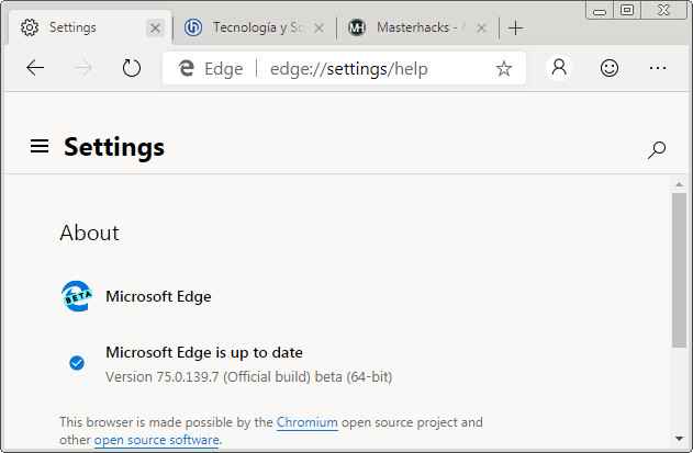 Microsoft Edge (Chromium) Beta está disponible para su descarga