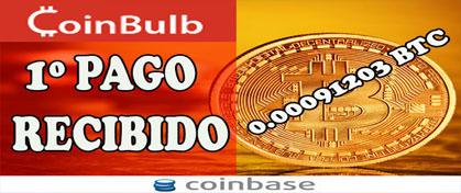 Coinbulb 0.00091203 Satoshis en Coinbase