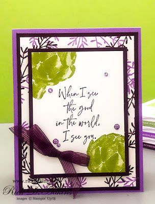 See the Good in the World when you use the See the Good Stamp Set from Stampin' Up!.  Click here to learn more.