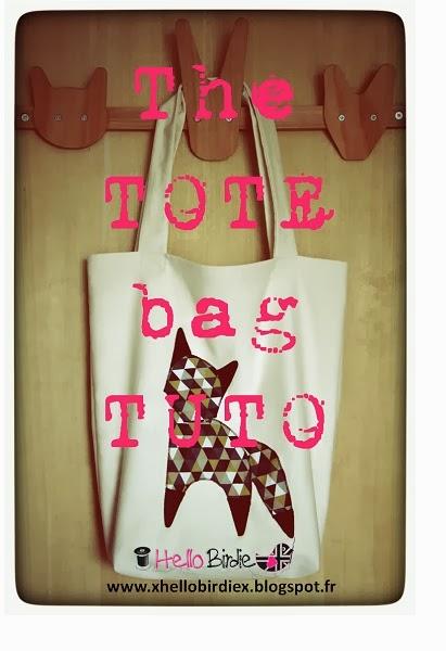 hello birdie the tote bag tuto. Black Bedroom Furniture Sets. Home Design Ideas
