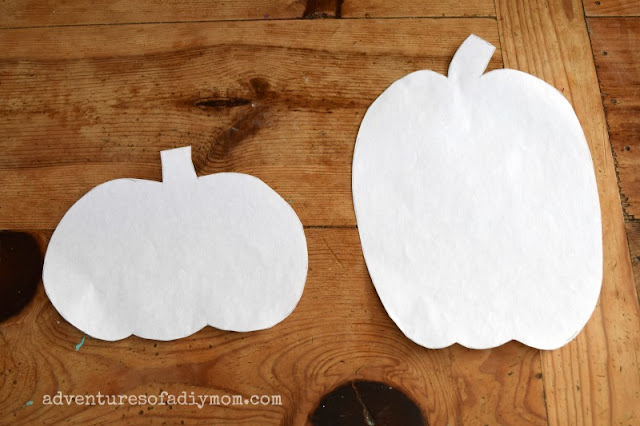 draw and cut out pumpkins