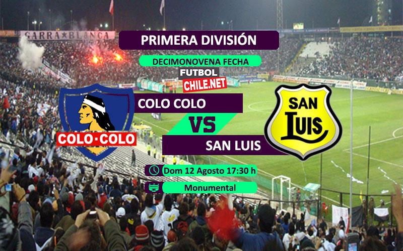 Mira Colo Colo vs San Luis en vivo y online por la Primera División de Chile