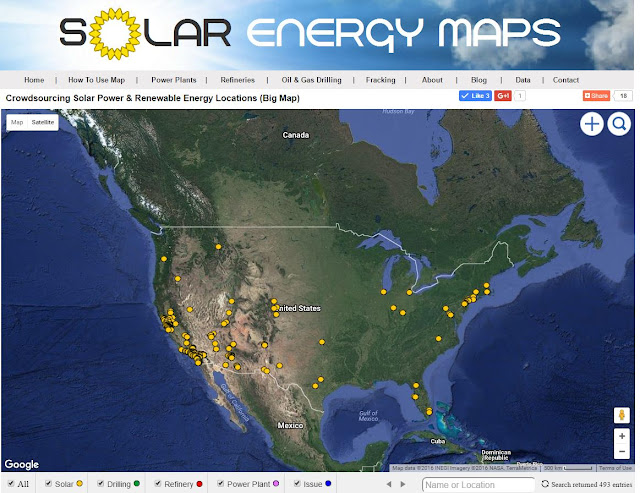solar parking lot locations map