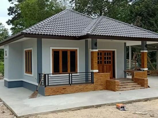 Desain inspiratif model rumah sederhana di pedesaan dengan atap limas