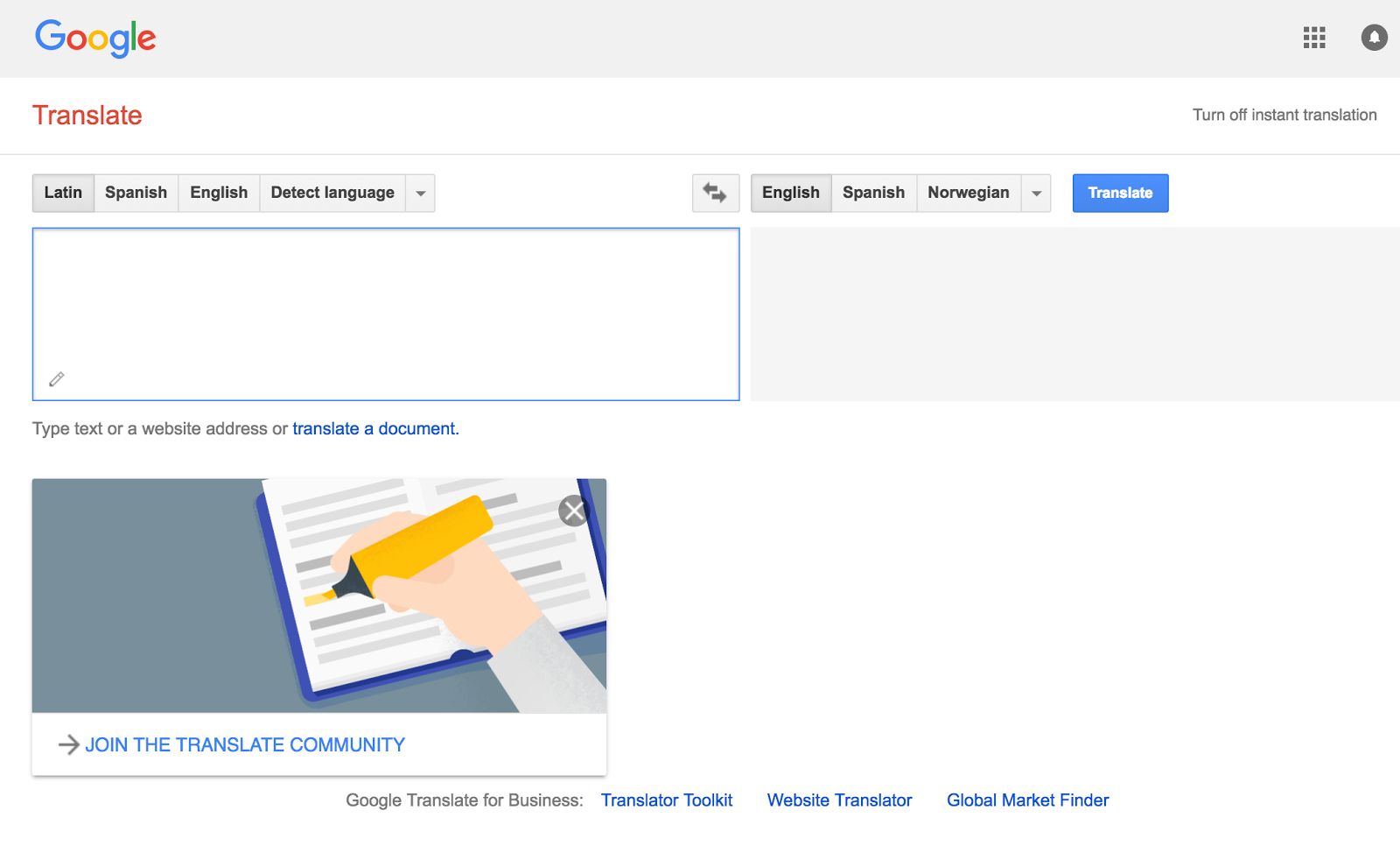 Rejoice, and be exceeding glad   : Google Translate adds