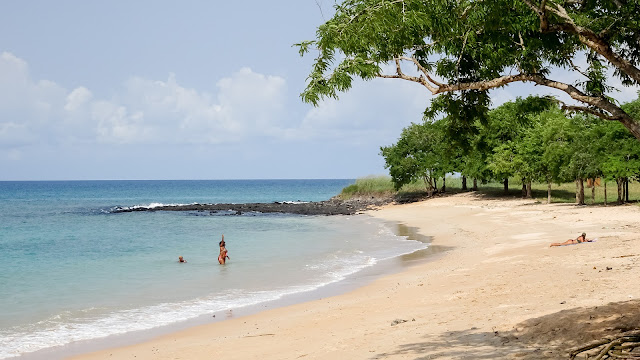 The beaches in Sao Tome are for swimming