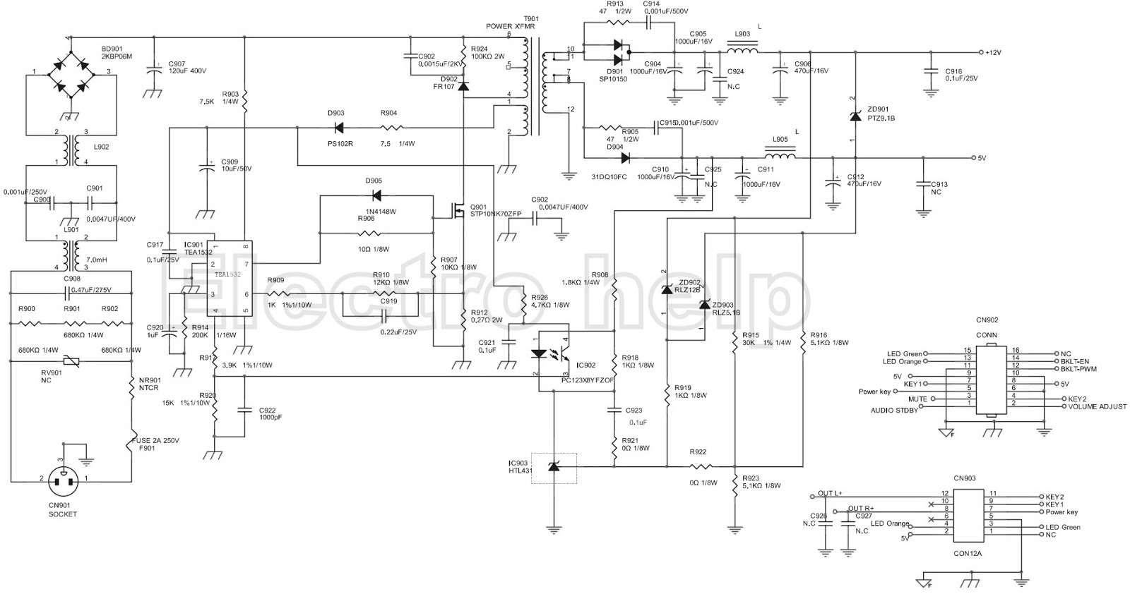 crt monitor schematic diagram