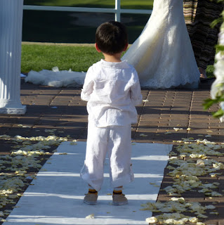 Boy at wedding