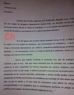 Denuncia de Gustavo Perotti página 1