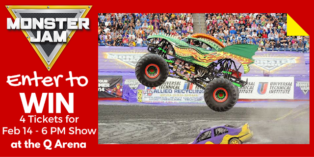 Monster Jam is Valentine's Weekend in CLE at The Q - Win 4 Tickets!