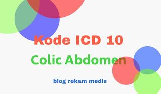 kode icd 10 colic abdomen