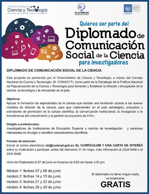 Diplomado Comunicación Social de la Ciencia