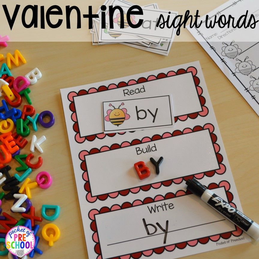 valentine's day themed centers and activities  pocket of