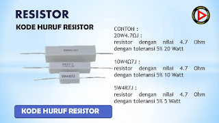 Kode huruf resistor
