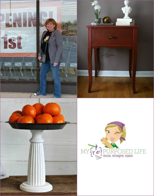 shopping finds, sewing table, pedestal stand