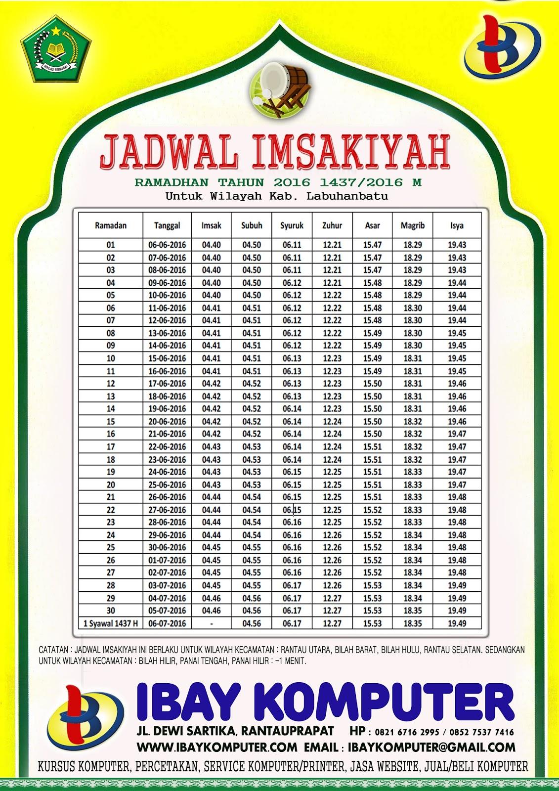 Jadwal Imsakiyah 2015 Pdf