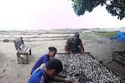 Babinsa Koramil 05/Kuala Baru Pantau Perkembangan Industri Pengolahan Ikan Asin di Desa Binaan