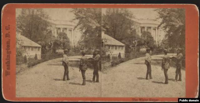 البيت الأبيض في صورة تعود لعام 1860 من موقع مكتبة الكونغرس