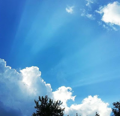 Blue skies and sunshine