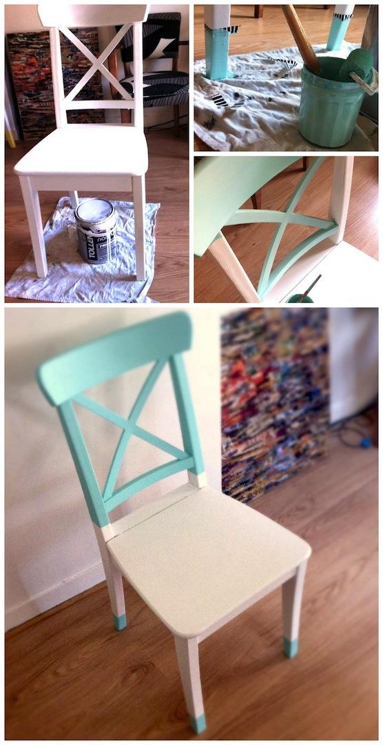 repeindre une chaise diy pour une 2 me vie valy 39 s blog. Black Bedroom Furniture Sets. Home Design Ideas