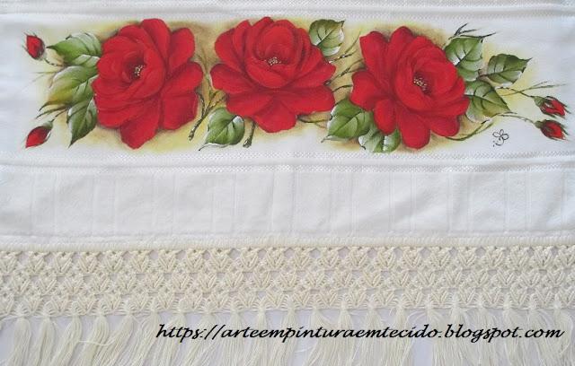 rosas pintadas a mão