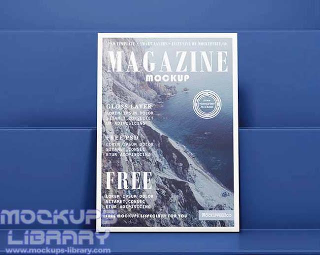 free magazine mockup psd 3