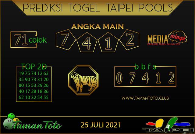 Prediksi Togel TAIPEI TAMAN TOTO 25 JULI 2021