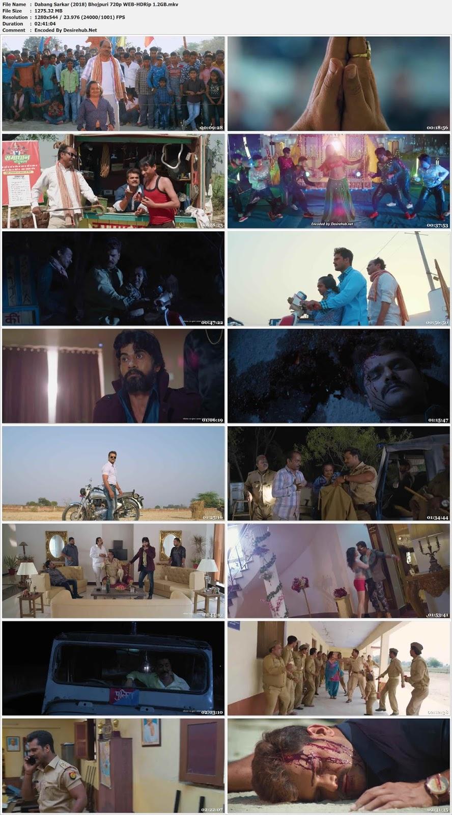 Dabang Sarkar (2018) Bhojpuri 480p WEB-HDRip 600MB Desirehub