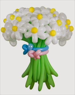 make an easy balloon flower bouquet