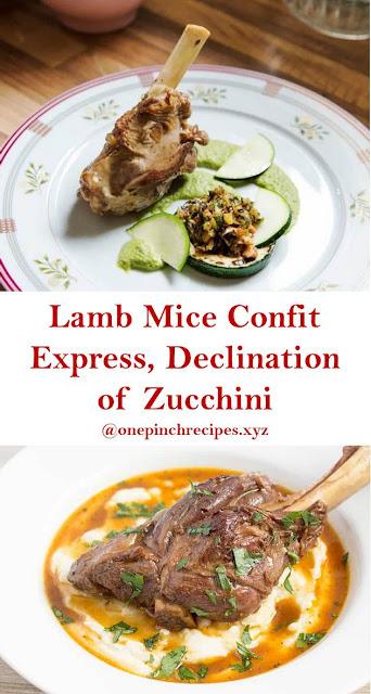 Lamb Mice Confit Express, Declination of Zucchini