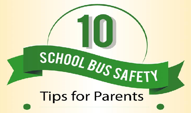 10 School Bus Safety Tips for Parents #infographic