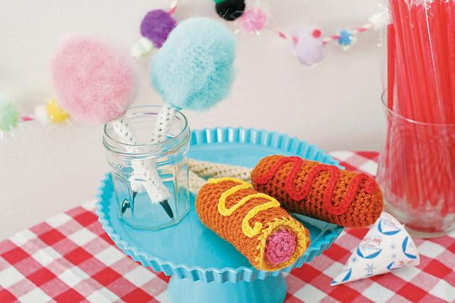 Carnival Pen Cozies crochet pattern