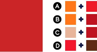 Which two colors make up the color on the left?