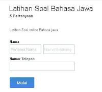 Latihan Soal Bahasa Jawa Online