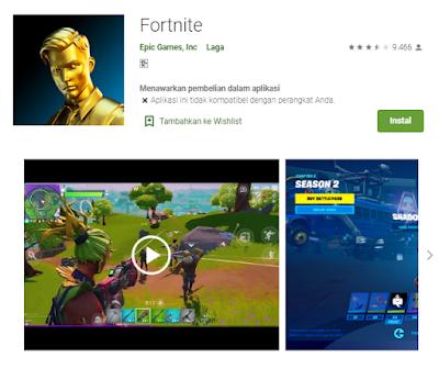 Download game fortnite di playstore untuk android