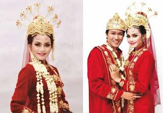 Gambar Pakaian adat Pengantin Banten.