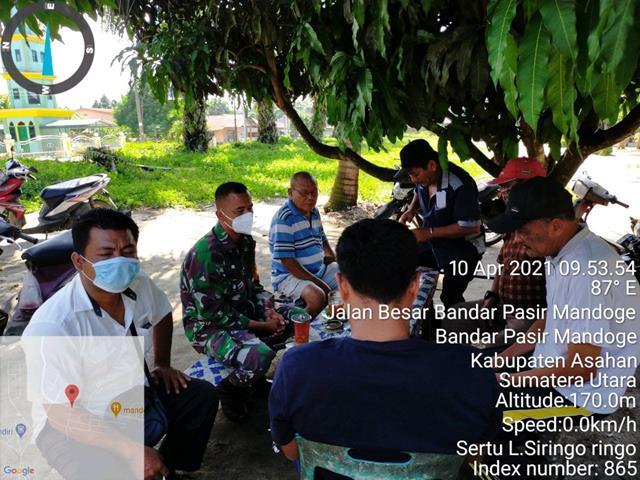 Jaga Hubungan Tetap Harmonis, Personel Jajaran Kodim 0208/Asahan Ajak Mitra Karib dan Tokoh Masyarakat Komsos